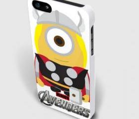 despicable minion avengers thor for iphone 4 and iphone 5 case